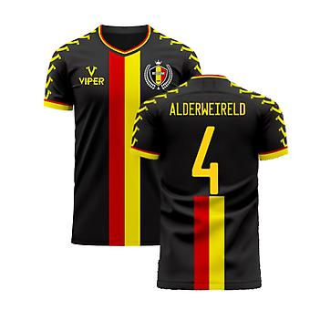Belgien 2020-2021 Away Concept Football Kit (Viper) (ALDERWEIRELD 4)