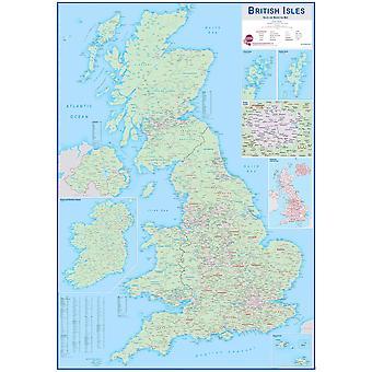 Stor brittisk försäljnings- och marknadsföringskarta för öar (papper)