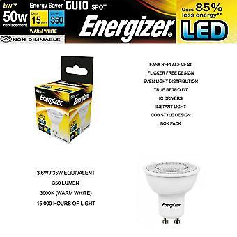 ENERGIZER LED GU10 Ljus energibesparande glödlampor svalt varmvitt