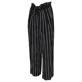OUI Stripe breda ben papperspåse midja byxor