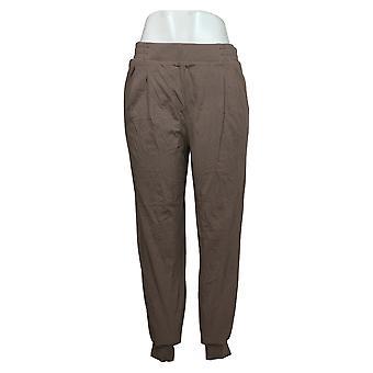 AnyBody Kvinders Bukser Reg Plisseret Jogger Brown A367651