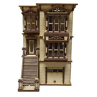 Lisa San Francisco Dolls House 1:48 Scale Lazer Cut Kit Flat Pack
