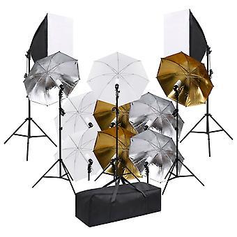 vidaXL Fotostudio-Set mit Beluchtungsset und Softboxen