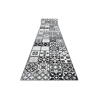 Runner anti-slip AZULEJO PATCHWORK, LISBON TILES grey / black