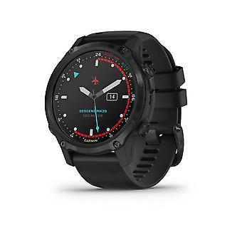 Garmin Smartwatch Descent™ Mk2S Titanium Silicone Strap Black 010-02403-04