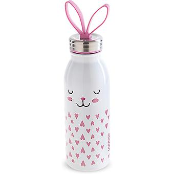 Aladdin Zoo Vacuum Insulated Water Bottle 0.45L Bunny White