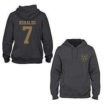 Cristiano ronaldo 7 real madrid style player kids hoodie-medium boys (7-8yrs) black
