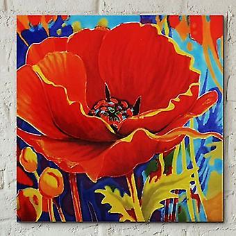 Kakel 8x8 Dreamcatcher Poppy Av S. Bull Wall Art