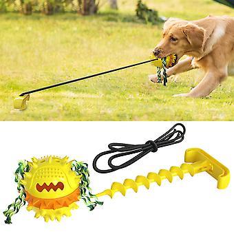 Pet Produkter Hunde Molar Tænder resistente over for Bite Udendørs Kraftfuld Snor Ball Klingende Hund Legetøj