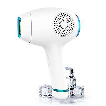 Ipl Pulsed Light Epilator, Ice Compress 5 Mode Permanent Home Epilator Energy Level 3 pour le corps, le visage, le bikini, les aisselles, les hommes et les femmes (blanc)