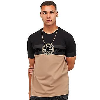 Glorious Gangsta   3676 Damos Flock Print Half-sleeve T-shirt - Black/sand