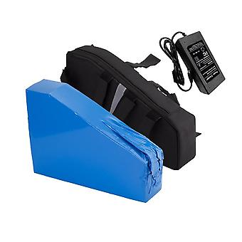 With Charger 52v 28ah 14s8p Ebike Battery Li-ion Triangle Bag Electric Bicycle Tricycle Motorcycle 300x80x100x265x75x210mm