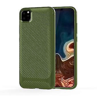 Boîtier de protection en fibre de carbone résistant aux chocs dur pour apple iPhone X / XS Green
