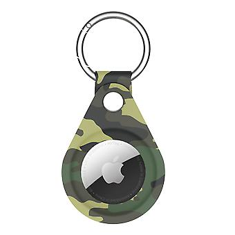Camouflage print protective airtag case green