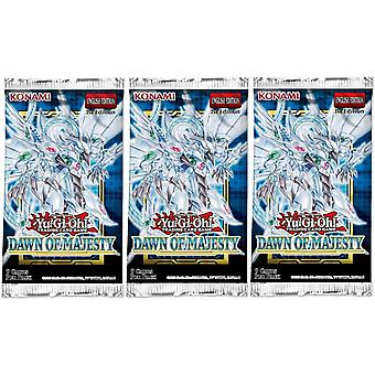 Yu-Gi-Oh! - Dawn Of Majesty - Booster Packs 3-Pack.