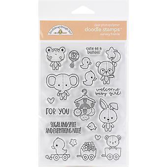 Doodlebug Clear Doodle Frimærker - Nursery Friends, Bundle of Joy