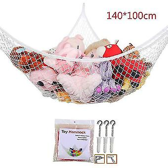 Alla nya mesh nät leksak hängmatta hörn fyllda djur barn baby hängande lagring arrangör (B)