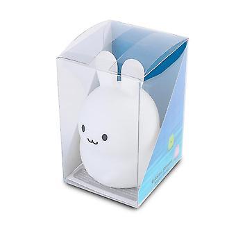Mini Konijn Nachtlampje RGB Schattig Cartoon Silicone Bunny Lamp Slaapkamer