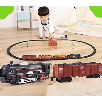 Электрический легкий ретро-поезд с железнодорожным электрическим путем классический набор