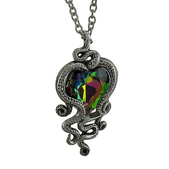 Alchemy Gothic Heart of Cthulhu Pendant w/ Necklace