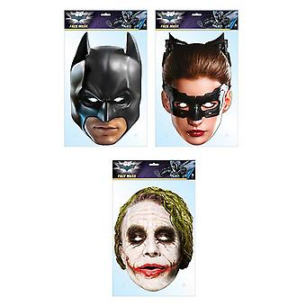 Batman Official DC Comics 2D Card Party Fancy Dress Masks Variety 3 Pack