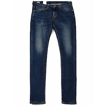 Edwin Jeans Slim Tapered Kaihara Selvedge Denim - Blue Mid Used