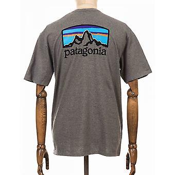 Patagonia Fitz Roy Horizons Responsibili Tee - Gravel Heather