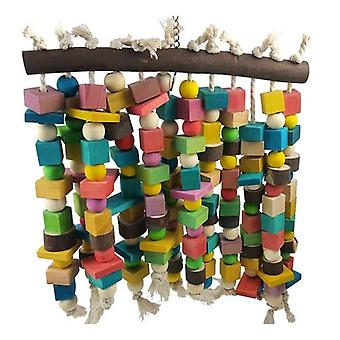 Wooden Bird Toys Large Bird Chewing Toy Parrot Birds Toys Accessories Grey Macaws|Bird Toys