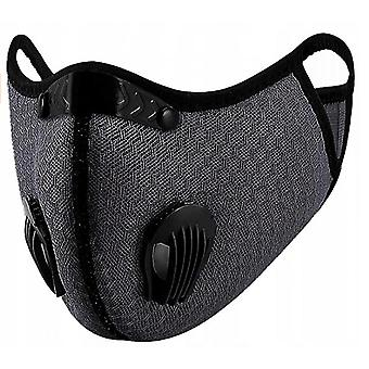 Outdoor Dust-proof And Fog-proof Riding Mask With Replaceable Filter Element (gray)