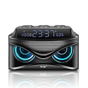 Speakers subwoofer sound bluetooth speaker led display cool owl design column|portable speakers black