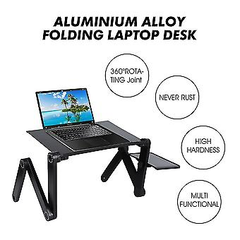 Motor vehicle video monitor mounts adjustable portable aluminum table stand notebook table desk stand with mouse pad laptop desks