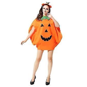 Halloween Pumpkin Costume Set Party Costume Children Adult Costume(Style1)