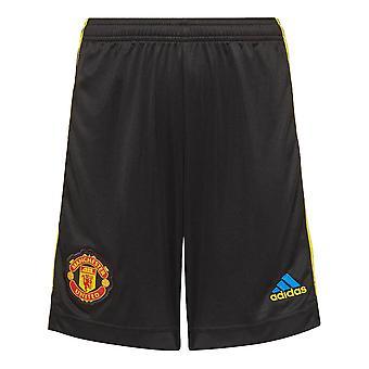 Man Utd 2021-2022 Third Shorts (Black) - Kids