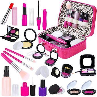Kinder vorgeben Make-up Kit mit Kosmetiktasche für Mädchen - 21 Stück