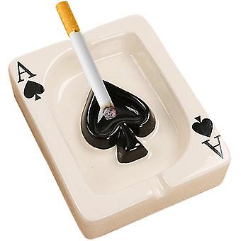 Poker Keramik Zigarette Aschenbecher Tischplatte Tragbare Moderne Aschenbecher Zigarre Aschenbecher Für Desktop Rauchen Aschenbecher