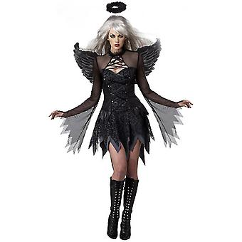 Halloween Game Sexy Uniform Dark Evil Angel Costume Ghost Bride