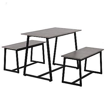 4人乗り1ダイニングテーブル(ベンチ2台付)