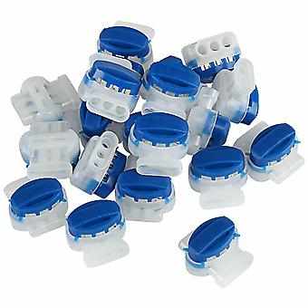 Kommunikationskontakt Vattentät, dammtät och fuktsäkert blått 3-håls terminalblock med fett (20 stycken)