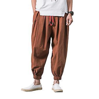 Silktaa Men's Harem Capri Loose Sweatpants Casual Yoga Beach Pants