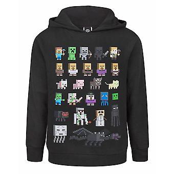 Minecraft Hoodie For Boys   Kids Sprites Characters Gamer Gifts Merchandise   Childrens Black Long Sleeve Hooded Jumper
