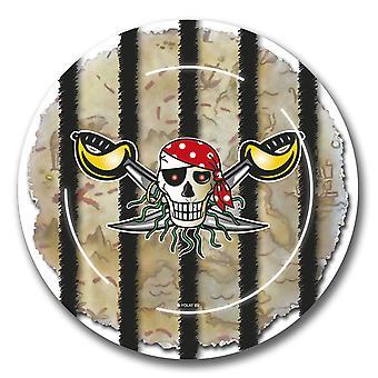Partido Pirata crianças aniversário partido placas 8 peça infantil