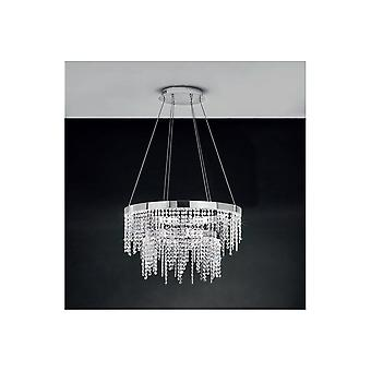 Eglo Antelao Double Crystal Ring Hanging Ceiling Pendant