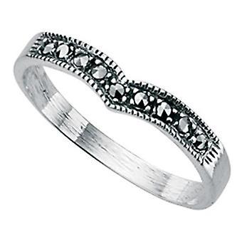 925 zilveren Marcasiet Ring origineel