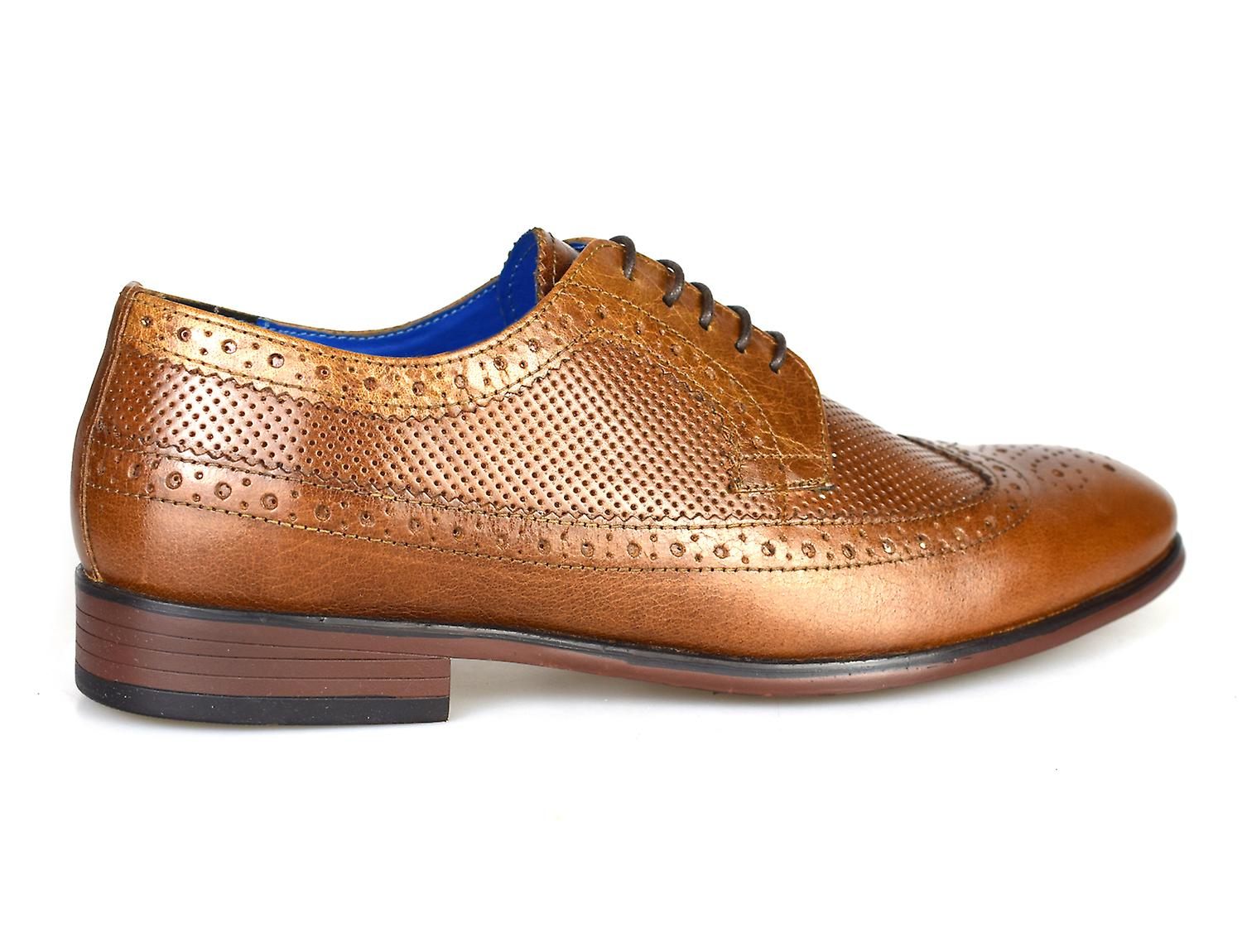 Red Tape Leslie Tan Leather Men's Brogue Dress Shoes