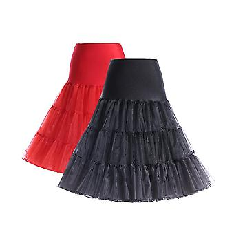 50's Petticoat Underskirt Retro Vintage 1950's Rockabilly White, Black, Red