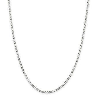 925 Sterling Sølv Solid Poleret 2.80mm Wide Curb Chain Ankel armbånd Foråret Ring smykker Gaver til kvinder - Længde: 9