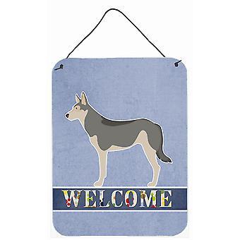 Saarloos Wolfdog Welcome Wall or Door Hanging Prints