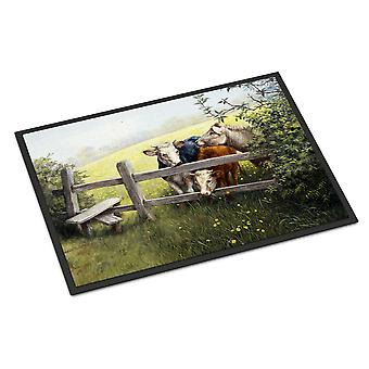 Cows in a Buttercup Meadow Indoor or Outdoor Mat 18x27