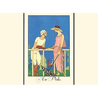 Au Polo Juliste Tulosta Georges Barbier (13 x 10)