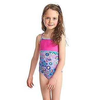 ZOGGS dziewczyny dzikich Classicback strój kąpielowy - liliowy/Multi